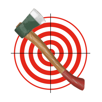axe and target