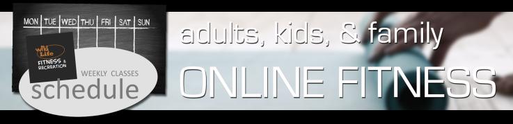 online fitness schedule banner