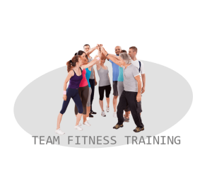 team fitness training